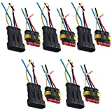 Etopars™ 5 X 4 Pin Way Car Auto Waterproof Electrical Connector Plug Socket Kit with Wire AWG Gauge Marine