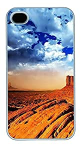 iPhone 4 4s Cases & Covers - Desert Skies Custom PC Soft Case Cover Protector for iPhone 4 4s - White