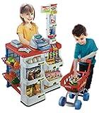 Tienda y carrito de la compra de juguete para niños