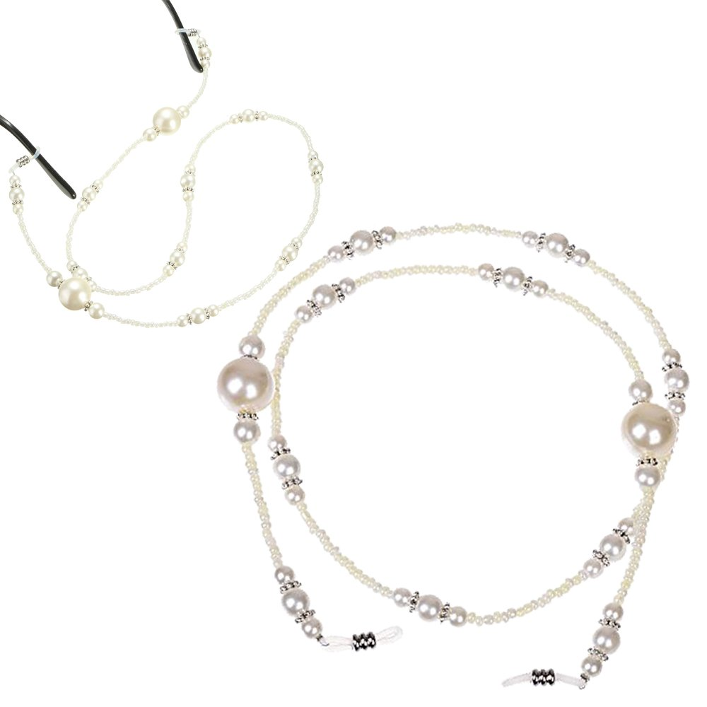 Imixlot Eyeglass Chain Holder Glasses Strap Eyeglass Chains and Cords for Women 2 piece