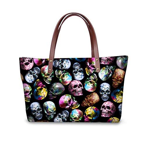 Handle Top Nyecc3534al Tote Handbags Satchel Vintage FancyPrint Women Bages xwRRU1q