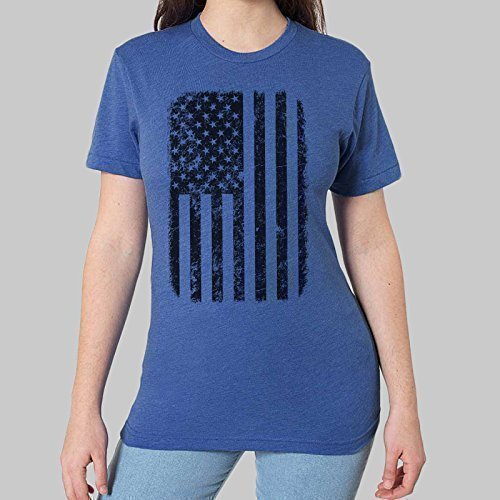 078ae7c197e Image Unavailable. Image not available for. Color  Women s Graphic Tee USA.  American Flag T-shirt ...
