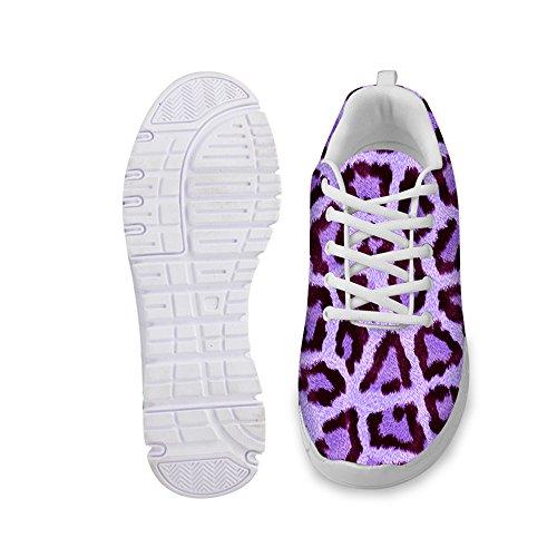 Women's Animals Running Fashion Sneakers Leopard IDEA HUGS Pattern Purple Lightweight xaRfw1