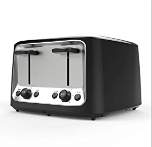 Toaster 4 Slices, Household Electric Toaster Baking Bread Sandwich Maker Grill Breakfast Machine Toast Oven Heater
