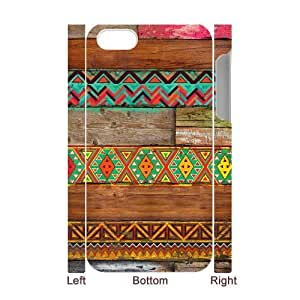 Colorful Wood Texture Hard Customized 3D Case for Iphone 4,4S, 3D New Printed Colorful Wood Texture Hard Case