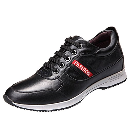 Freerun Mens Fashion Leather Lace-up High Increased within Fashion Sneakers (9.5 B(M)US,black)