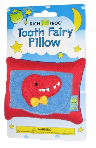 Rich Frog Dino Tooth Fairy Pillow and Tooth Keepsake, Multicolored - 4