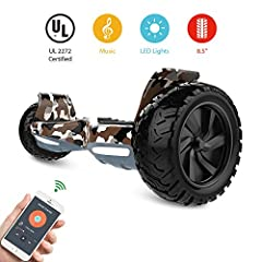 Are you looking for a fun, fresh and awesome way to get around town or simply move around your home or office? - HYPER GOGO Hover Board provide every experiencer funny, cool, safety. Best gift for everyone. - Easy carry - Userfriendly and dyn...