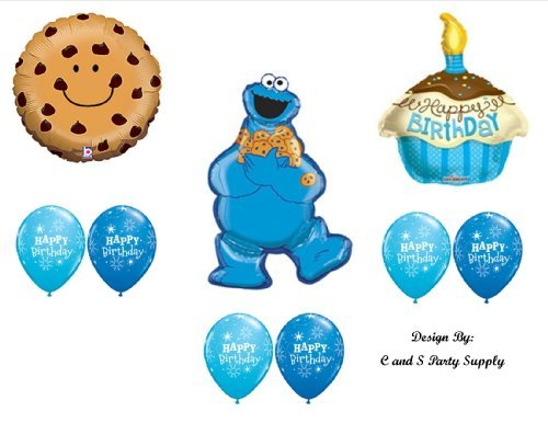 9 pc. (Cookie Monster Party Supplies)