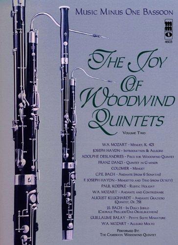 Read Online Music Minus One Bassoon: The Joy of Woodwind Quintet (Woodwind Quintets, vol. II) pdf