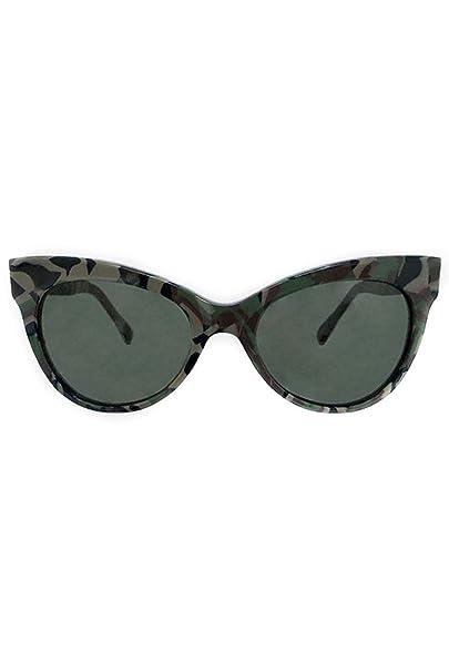 Amazon.com: Norma Kamali – cuadrado Cat Eye – Gafas de sol ...
