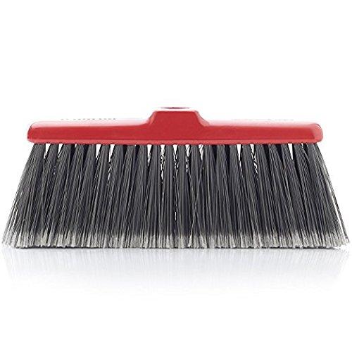 Fine Sweeping Broom - Fuller Brush Fiesta Red Kitchen Broom - Heavy Duty Floor Sweeper w/Fine Long Bristles - Dust Sweeping for Home/Commercial Kitchen & Warehouse Floors