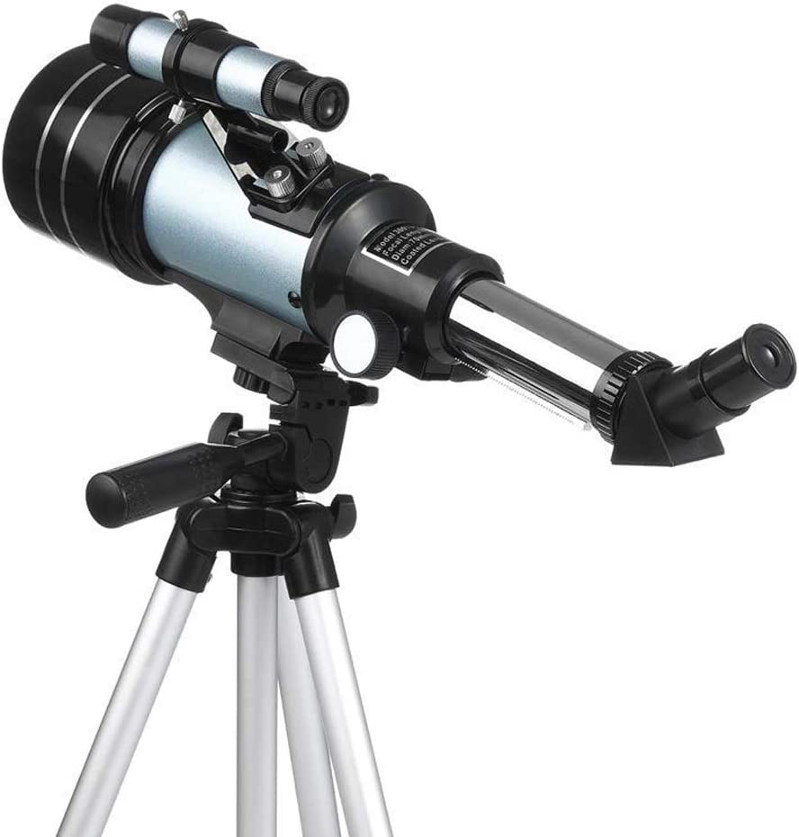 Color : Silver, Size : M YADSHENG Astronomical Telescope 15//25//50X HD Refractive Astronomical Prism Zoom Monocular with Phone Clip Camping Travel Refractors
