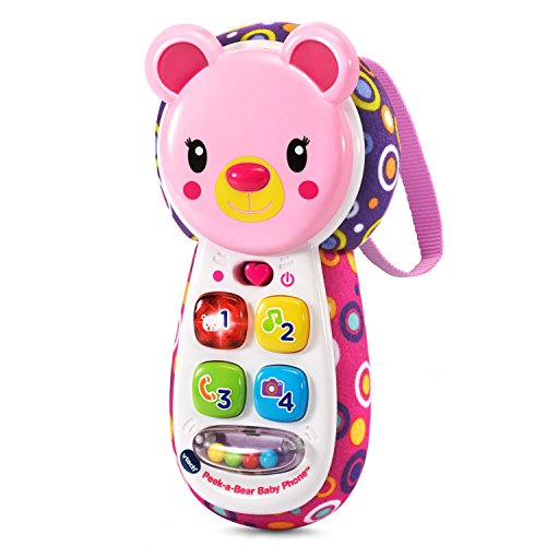VTech Peek a Bear Baby Phone Pink product image
