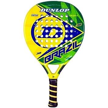 Dunlop Brasil - Pala de pádel, color amarillo/verde/azul, 38 mm: Amazon.es: Deportes y aire libre