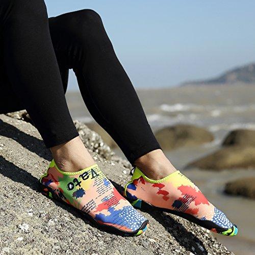 Surfing Beach for Garden Running Dry Quick Mutifunctional Socks Walking Aqua Yoga Lightweight Boating Women Map Shoes for HLM Water Swimming Barefoot qtZ1g1aU