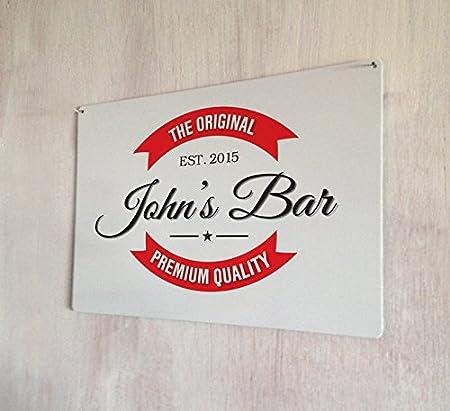 personalised original red band bar man cave bar pub sign a4 metal
