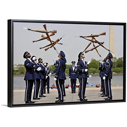 - Stocktrek Images Floating Frame Premium Canvas with Black Frame Wall Art Print Entitled The United States Air Force Honor Guard Drill Team 30