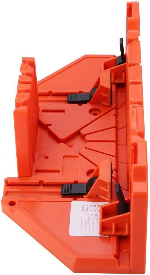 Hands/äge-Holzschneidewerkzeug mit Klemme Greensen Klemmgehrungskasten 14-Zoll-Gehrungss/ägekasten f/ür die Holzbearbeitung Kunststoff-S/äge-Gehrungskasten
