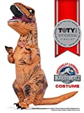 warehouse deals open box face - Rubie's Costume Jurassic World Child's T-Rex Inflatable Costume with Sound, Multicolor