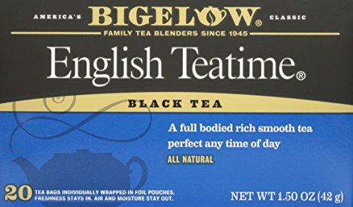 Bigelow, English Time Tea (Caffeinated), 20 Count