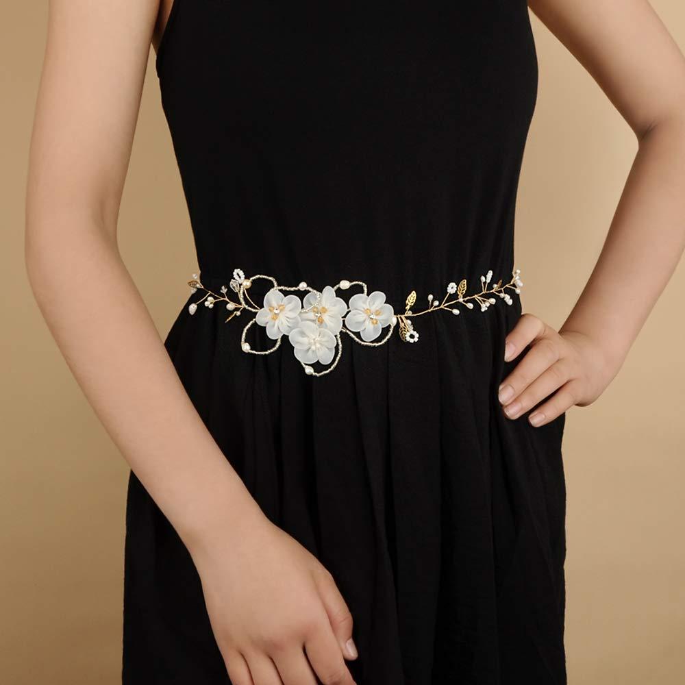 Azaleas Womens Crystal Diamond Bridal Belt Flowers belt Wedding Belts Sash for Wedding