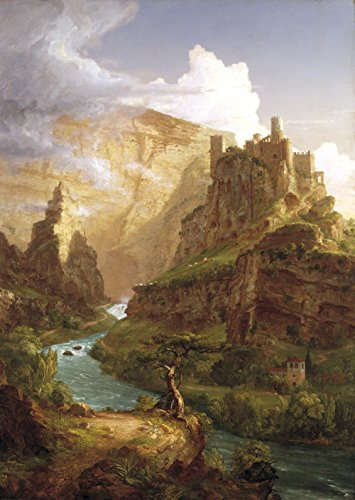 Thomas Cole - The Fountain of Vaucluse, Size 18x24 inch, Gallery Wrapped Canvas Art Print Wall décor