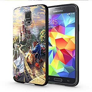Beauty and the Beast in the Castle Iphone and Samsung Galaxy Case (Samsung Galaxy S5 Black)