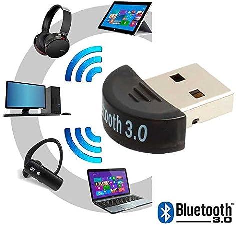 OcioDual Mini Antena Adaptador Bluetooth USB V3.0 EDR para Windows XP, Vista, 7, 8 y 10