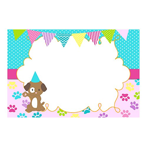 ations Thank You Cards Puppy Pink Blue Birthday Baby Shower + 30 White Envelopes ()