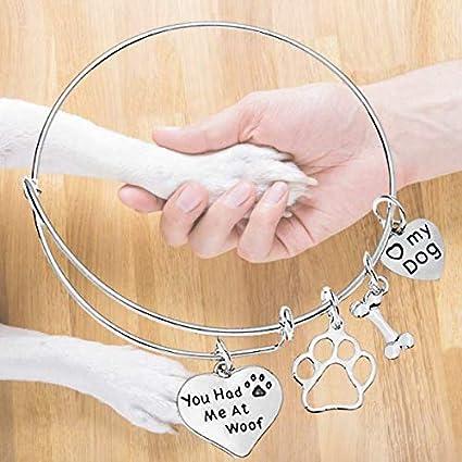 Dog Lover Charm Bracelet CBR7005 Dog Mom Bracelet Dog Lover Jewelry Gift for Dog Lover Dog Lover Gift