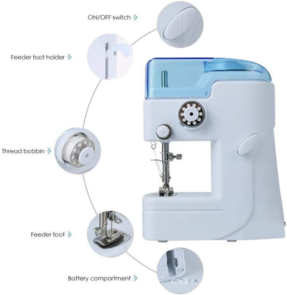 Mini Electric Sewing Machine Portable Electric Crafting Speed Crafting Mending Machine Electric Overlock Sewing Machines A