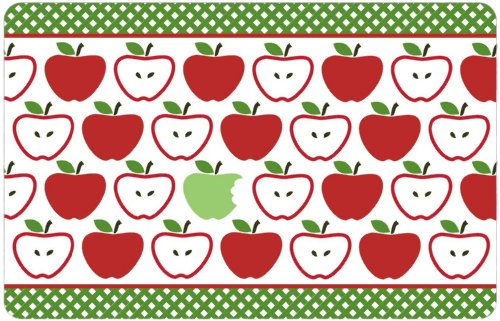 Anti-Slip Printed Kitchen Rug 18x28, Apples Floor Mat