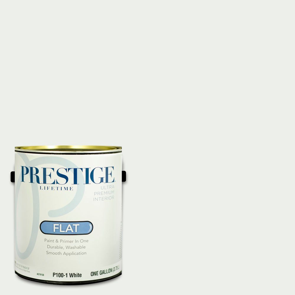Prestige Interior Paint and Primer In One, 1-Gallon, Flat, White
