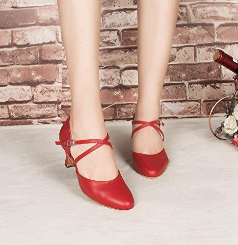 heel de 6cm bal Salle Burgudy femme rouge Miyoopark 35 OqgAU
