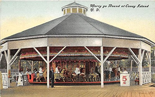 Merry Go Round Coney Island, New York, NY, USA Postcard Post Card