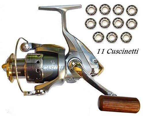 mulinello xc 3000 11 cuscinetti da pesca spinning bolognese mare lago fiume