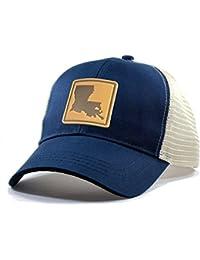Men's Louisiana Leather Patch Trucker Hat