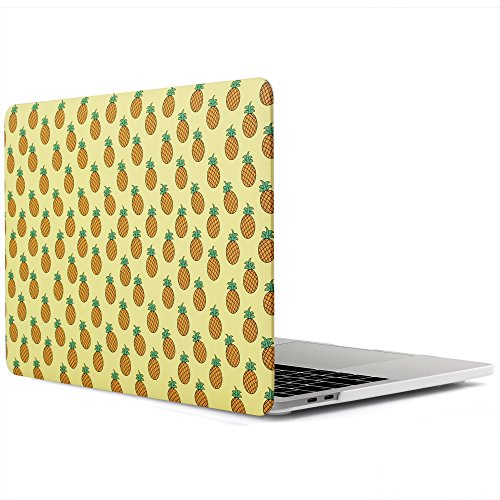 Bar Pineapple - iDOO Matte Rubber Coated Soft Touch Plastic Hard Case for New MacBook Pro 15 inch Retina with Touch Bar and Touch ID 2016 Release, Model A1707 - Pineapple