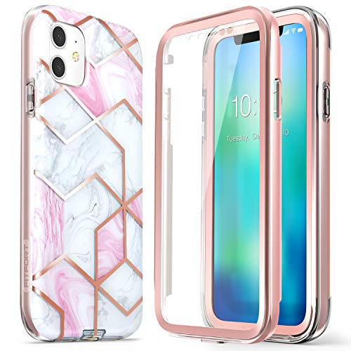 iPhone 11 Protective Case with Screen Protector - FITFORT Full Body Protective Shock Drop Proof Impact Resist Extreme Durable Case for Lady Girl Compatible with iPhone 11