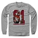 49er bbq accessories - 500 LEVEL's Terrell Owens Long Sleeve Shirt Large Heather Gray - Vintage San Francisco Football Fan Apparel - Terrell Owens Game R