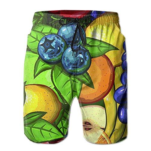 Abundance Fruit Personality Mens Water Sports Quick Dry Board (Abundance Fruit)
