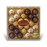 Ferrero Rocher Fine Hazelnut Chocolates, 24 Count, Assorted Coconut and Chocolate Gift Box
