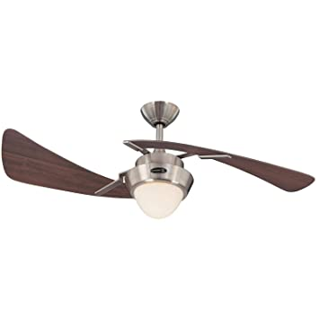 westinghouse 7214100 48 brushed nickel maple plywood two blade rh amazon com 2 Blade Ceiling Fan Harbor Breeze Ceiling Fan Parts