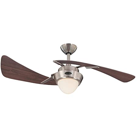 Westinghouse 7214100 48 Brushed Nickel Maple Plywood Two Blade Ceiling Fan