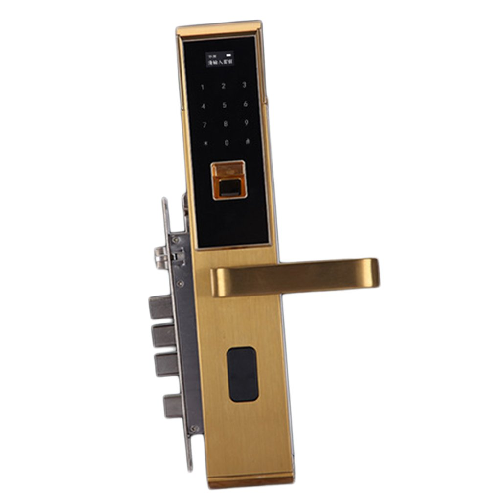 Homyl 5 in 1 スマート 指紋 ドアロック ホーム セキュリティ 全3色 ゴールド B078S2JSSH  ゴールド