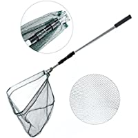 Entsport Collapsible 3-Section Landing Net Aluminum...