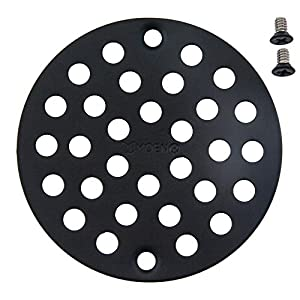 Moen 102763WR Kingsley 4-Inch Screw-In Shower Straine, Wrought Iron