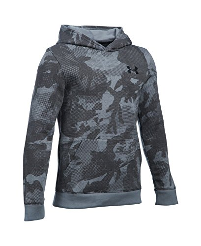 Under Armour Boys' Titan Fleece Printed Hoodie, Steel (035), Youth Small
