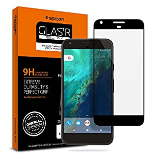 Spigen Tempered Glass Google Pixel Screen Protector [ Case Friendly ] [ Maximum Protection ] for Google Pixel (2016 Release) - Black